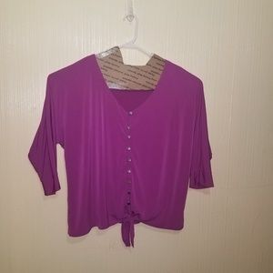 Purple/fuschia women's plus size 3x